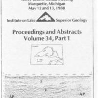 Institute on Lake Superior Geology: Proceedings, 1988