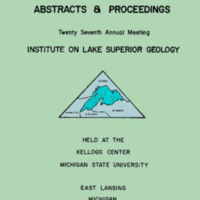 Institute on Lake Superior Geology: Proceedings, 1981