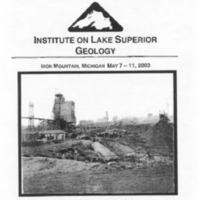 Institute on Lake Superior Geology: Proceedings, 2003