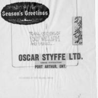 Christmas card mock up for Oscar Styffe Limited