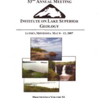 Institute on Lake Superior Geology: Proceedings, 2007
