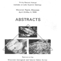 Institute on Lake Superior Geology: Proceedings, 1986