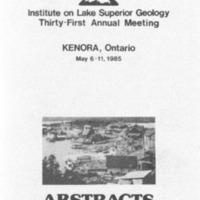 Institute on Lake Superior Geology: Proceedings, 1985
