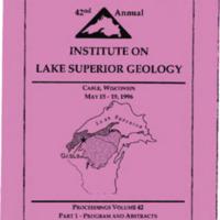 Institute on Lake Superior Geology: Proceedings, 1996