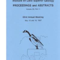 Institute on Lake Superior Geology: Proceedings, 1987