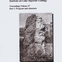 Institute on Lake Superior Geology: Proceedings, 2001