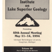 Institute on Lake Superior Geology: Proceedings, 1994