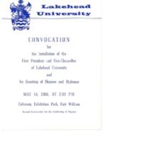 1966 Convocation Program