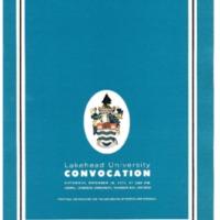 1972 Fall Convocation Program