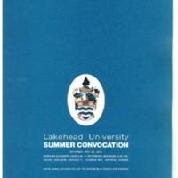 1973 Summer Convocation Program