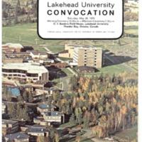 1979 Spring Convocation Program