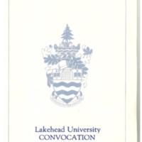 1991 Convocation Program