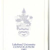 1992 Convocation Program