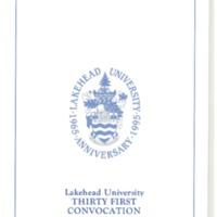 1995 Convocation Program