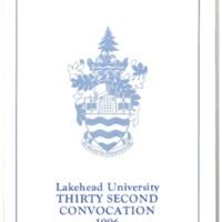 1996 Convocation Program