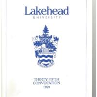 1999 Convocation Program