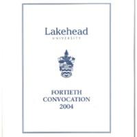 2004 Convocation Program
