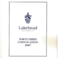 2007 Convocation Program