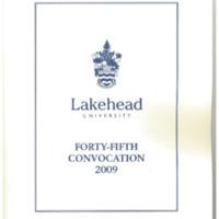 2009 Convocation Program