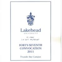 2011 Convocation Program