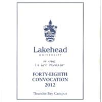 2012 Convocation Program