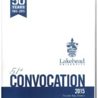 2015 Convocation Program