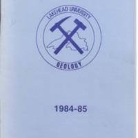 1984-85 Lakehead University Geology Journal