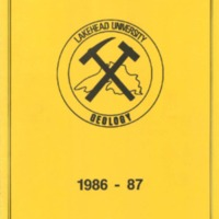 1986-87 Lakehead University Geology Journal