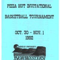 Men's and Women's Basketball Tournament Program - Pizza Hut Invitational 1992.pdf