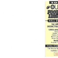 OUAA Football Hall of Fame 1st Annual Induction Dinner Ticket 1993.pdf