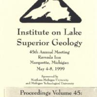 Institute on Lake Superior Geology: Proceedings, 1999