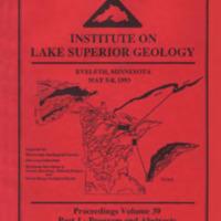 Institute on Lake Superior Geology: Proceedings, 1993