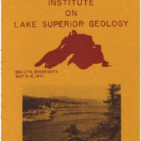 Institute on Lake Superior Geology: Proceedings, 1971