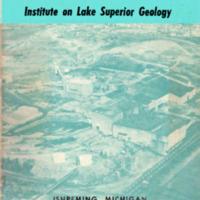Institute on Lake Superior Geology: Proceedings, 1964