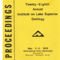 Institute on Lake Superior Geology: Proceedings, 1982