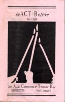 reACT-Believe Vol 2 No 2 - Fall 1989
