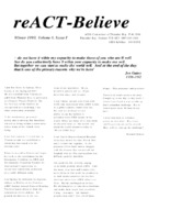 reACT-Believe Vol 6 Issue 1 - Winter 1993