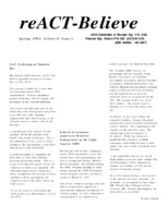reACT-Believe Vol 6 Issue 2 - Spring 1993
