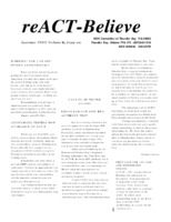 reACT-Believe Vol 6 Issue 3 - Summer 1993