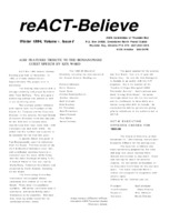 reACT-Believe Vol 7 Issue 1 - Winter 1994