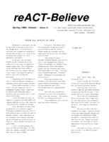 reACT-Believe Vol 7 Issue 2 - Spring 1994