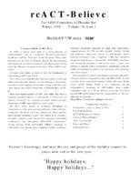 reACT-Believe Volume 10 Issue 3 - Winter 1998